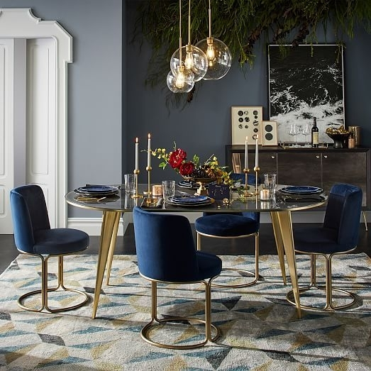 Cora Velvet Dining Chair | Dining, Dining Chairs And Dining Room Intended For Cora Dining Tables (Photo 6 of 25)
