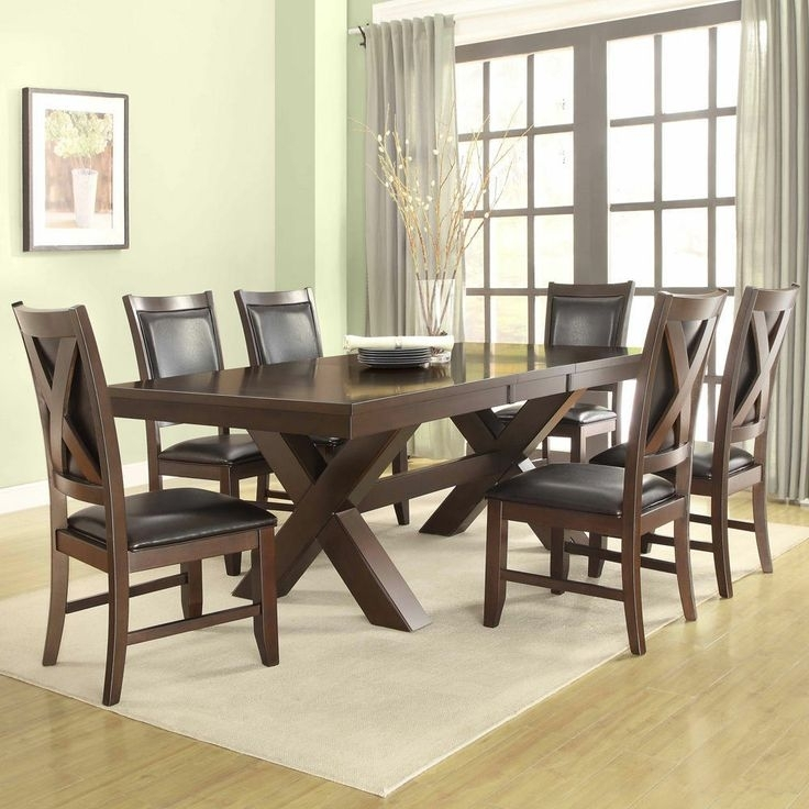 Coral Walnut 7 Piece Extending Table Dining Set – $1000 60 78 Inches Within Delfina 7 Piece Dining Sets (Image 8 of 25)