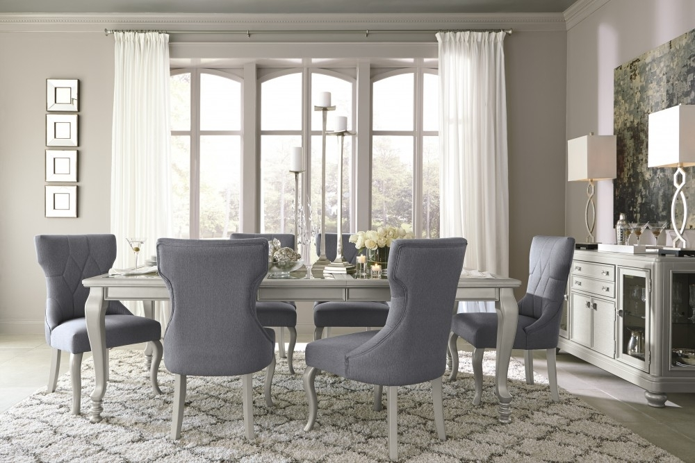 Coralayne Ext Dining Room Table & 6 Uph Side Chairs | D650/35/01(6 For Market 6 Piece Dining Sets With Side Chairs (Image 8 of 25)