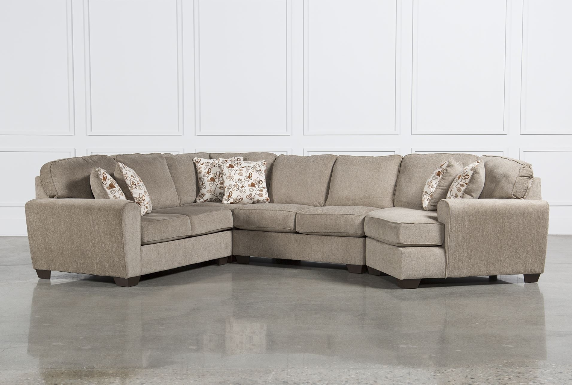 Corbin 3 Piece Sectional W Raf Chaise Ideas Of Living Spaces In Avery 2 Piece Sectionals With Raf Armless Chaise (Image 9 of 25)