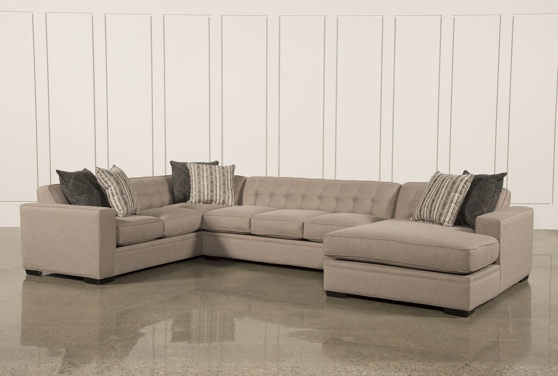 Corbin 3 Piece Sectional W/raf Chaise | New House: Loft | Pinterest For Norfolk Grey 3 Piece Sectionals With Raf Chaise (View 5 of 25)