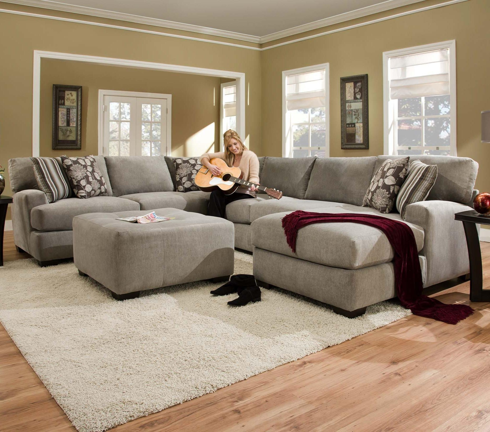 Corinthian 29A0 Ottoman For Use With Chair | Standard Furniture Pertaining To Josephine 2 Piece Sectionals With Raf Sofa (View 6 of 25)