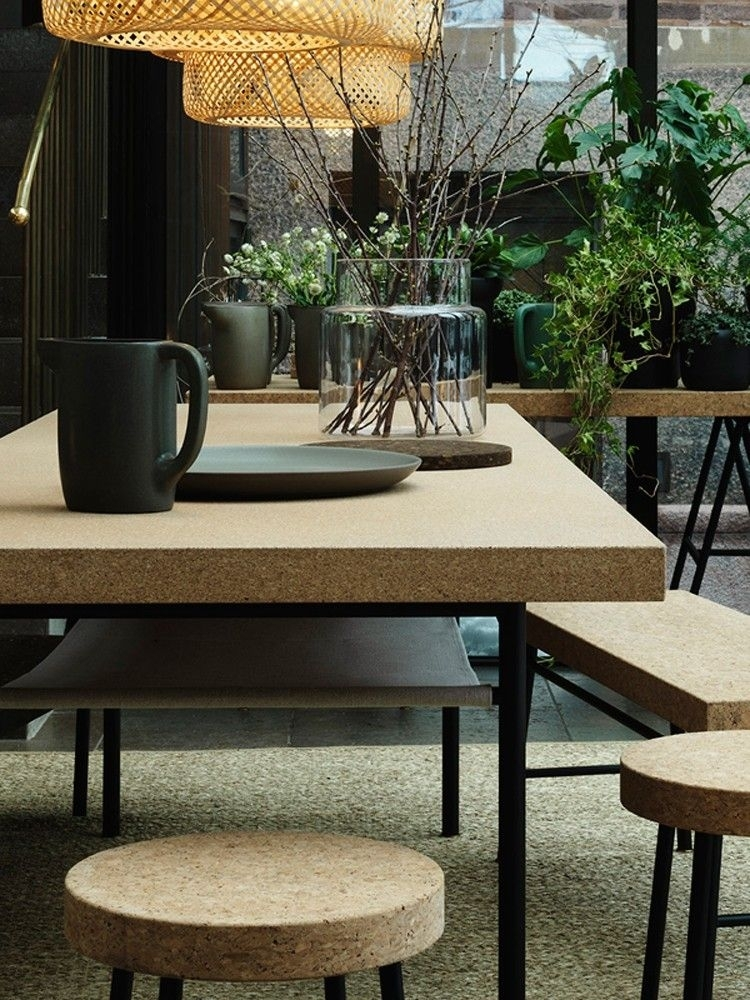 Cork: The Natural Choice For Interiors In 2018 | Garden – Terrace For Cork Dining Tables (Image 9 of 25)
