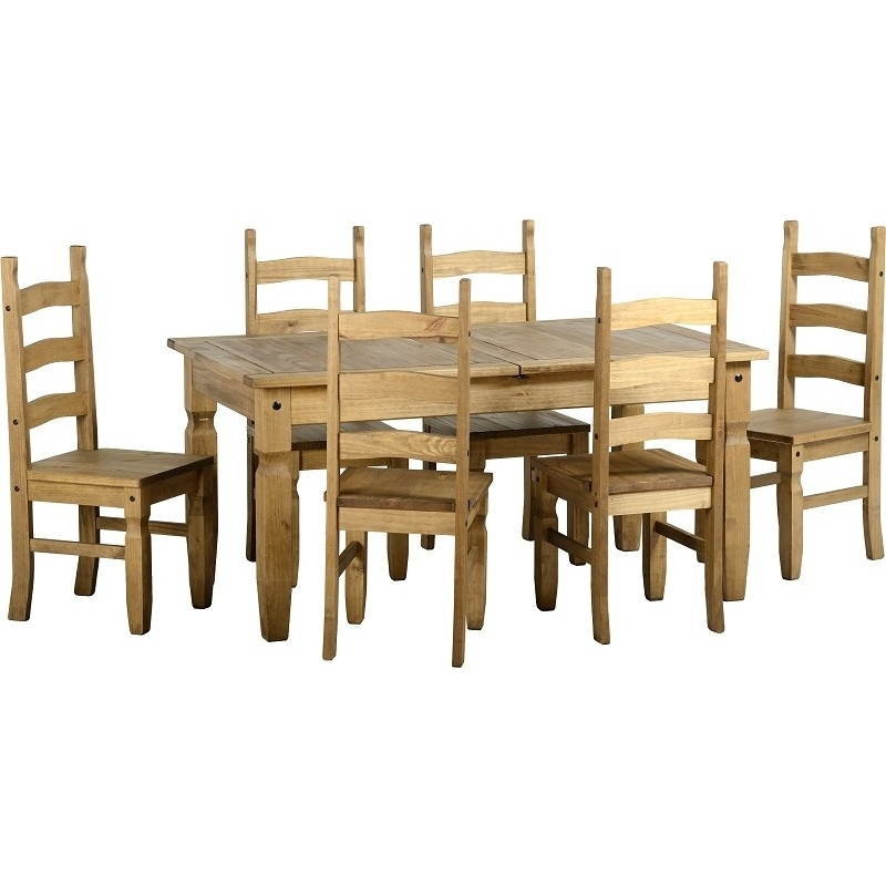 Corona Pine Extending Dining Table & 6 Chairs – Default Store View Pertaining To Extending Dining Tables And 6 Chairs (Image 11 of 25)