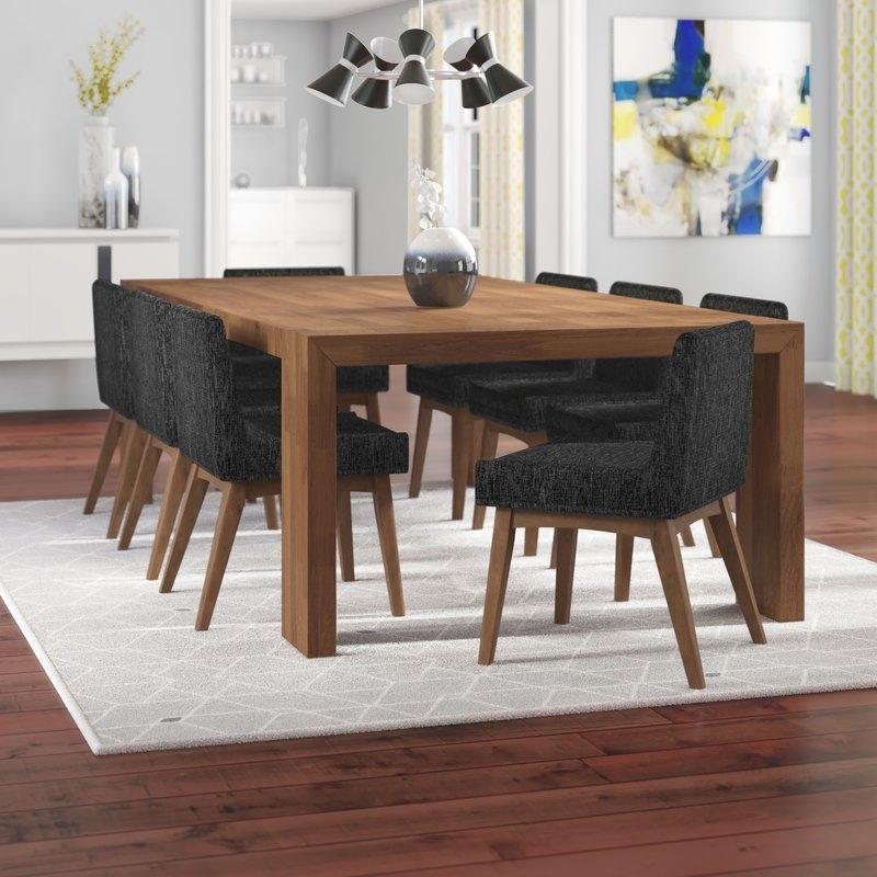 Corrigan Studio Crume 9 Piece Dining Set | Wayfair regarding Caira 9 Piece Extension Dining Sets
