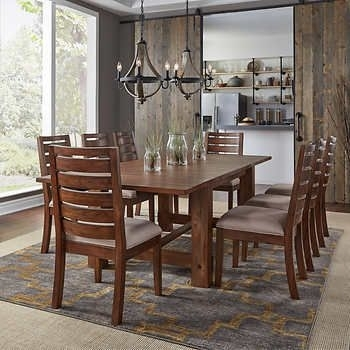 Corrine 9 Piece Dining Set | Kitchen | Pinterest | Dining, Dining Within Laurent 7 Piece Rectangle Dining Sets With Wood And Host Chairs (Image 6 of 25)