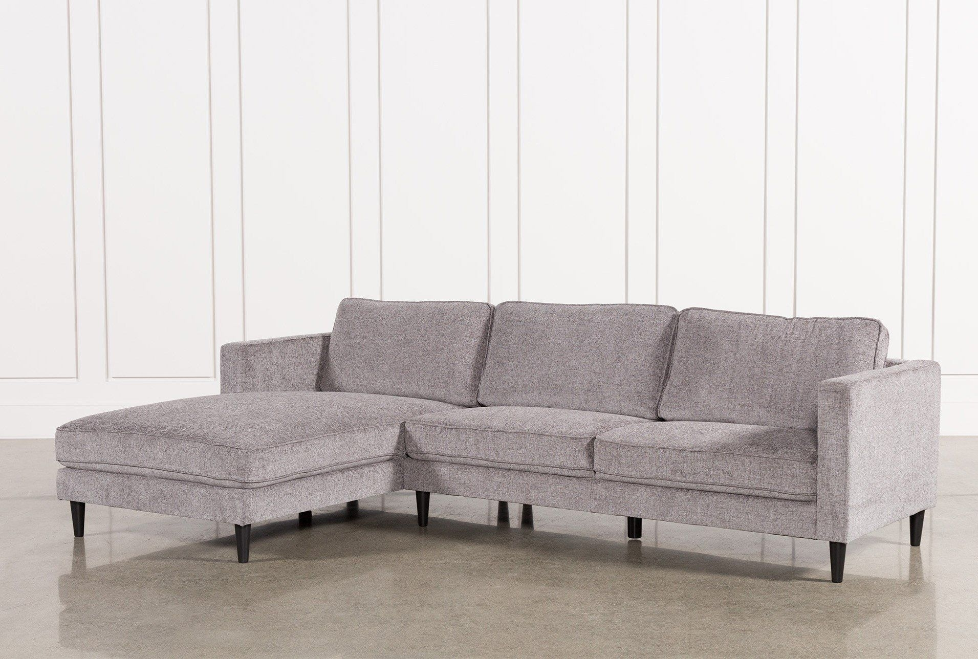 Cosmos Grey 2 Piece Sectional W/laf Chaise | Couches | Pinterest For Egan Ii Cement Sofa Sectionals With Reversible Chaise (Image 6 of 25)