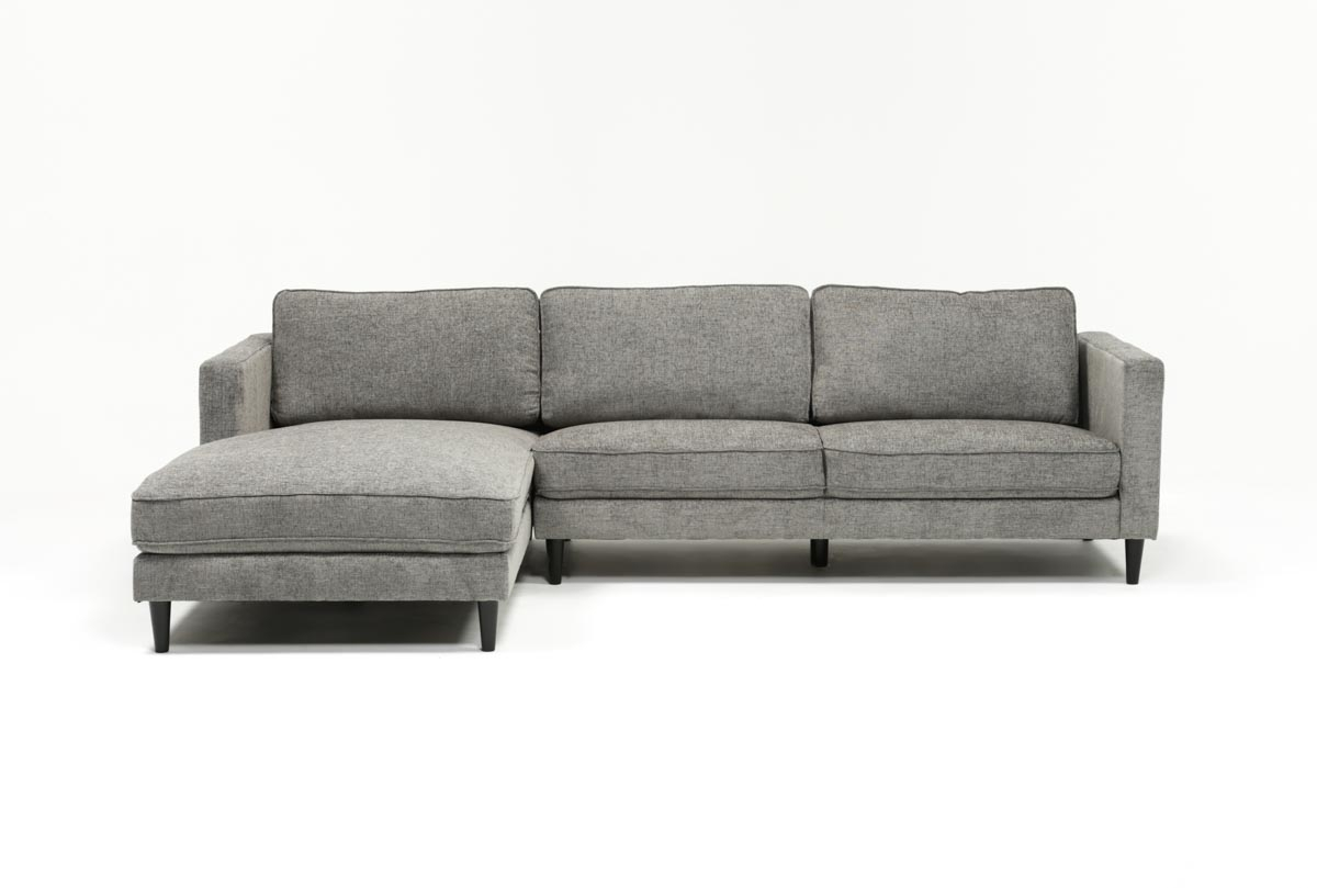 Cosmos Grey 2 Piece Sectional W/laf Chaise | Living Spaces For Aquarius Dark Grey 2 Piece Sectionals With Raf Chaise (View 2 of 25)