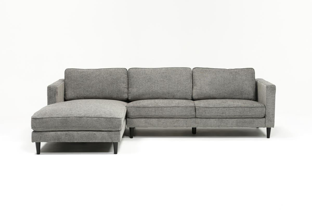 Cosmos Grey 2 Piece Sectional W/laf Chaise | Living Spaces Inside Aquarius Light Grey 2 Piece Sectionals With Laf Chaise (Image 9 of 25)