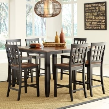 Costco: Somerset 7 Piece Counter Height Dining Set | Furniture Inside Laurent 7 Piece Rectangle Dining Sets With Wood And Host Chairs (Image 8 of 25)
