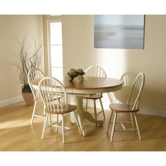 Cotswold Extending Dining Table + 4 Windsor Chair Dining Set In Cotswold Dining Tables (View 10 of 25)