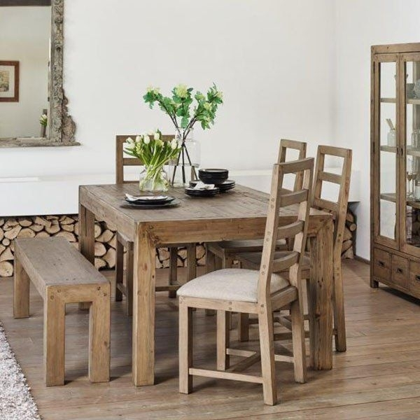 Cotswold Reclaimed Wood Dining Set | Reclaimed Wood Dining Table Intended For Cotswold Dining Tables (Image 16 of 25)