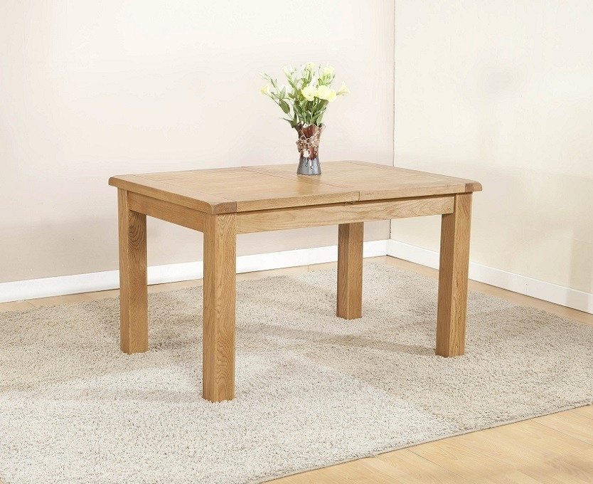 Cotswold Rustic Light Oak Large Extending Dining Table | Oak Regarding Cotswold Dining Tables (Image 17 of 25)