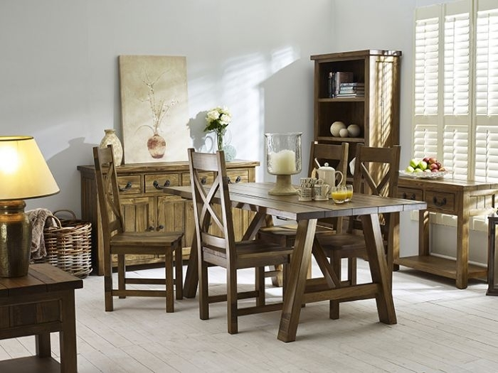 Cotswold Trestle Dining Table | A Superb Addition To Any Dining Space With Cotswold Dining Tables (Image 19 of 25)