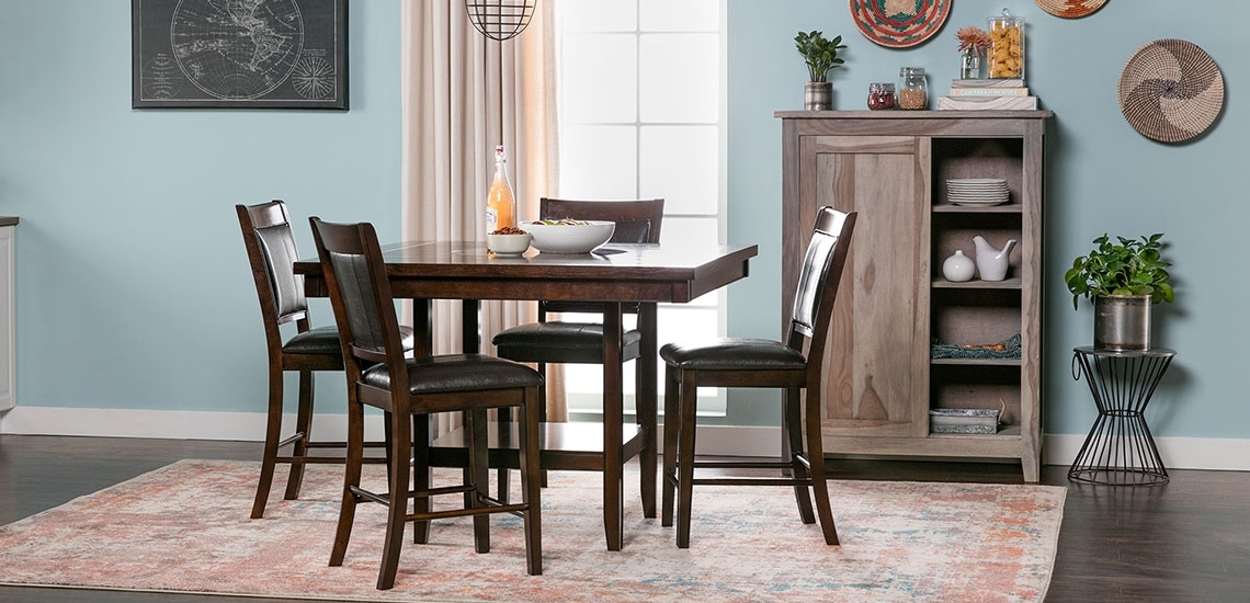 Counter Height Dining Room Furniture Buying Guide | Living Spaces Within Harper 5 Piece Counter Sets (View 5 of 25)