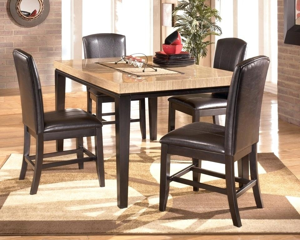 Counter Height Dining Room Table And Chairs Bar High Dining Table Intended For Hyland 5 Piece Counter Sets With Bench (Image 8 of 25)