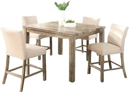 Counter Height Dining Room Table Costco With 8 Chairs Tanshire Price Regarding Hyland 5 Piece Counter Sets With Stools (Image 8 of 25)