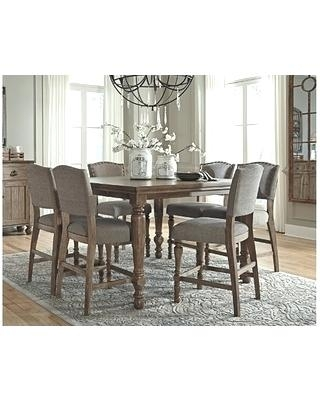 Counter Height Dining Room Table Mango 5 Piece Counter Height Dining With Hyland 5 Piece Counter Sets With Stools (Image 9 of 25)