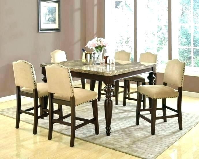 Counter Height Dining Room Table With Leaf Coviar And Bar Stools Inside Hyland 5 Piece Counter Sets With Bench (Image 9 of 25)