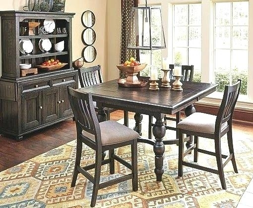 Counter Height Dining Room Table With Leaf Coviar And Bar Stools Pertaining To Hyland 5 Piece Counter Sets With Bench (Image 10 of 25)