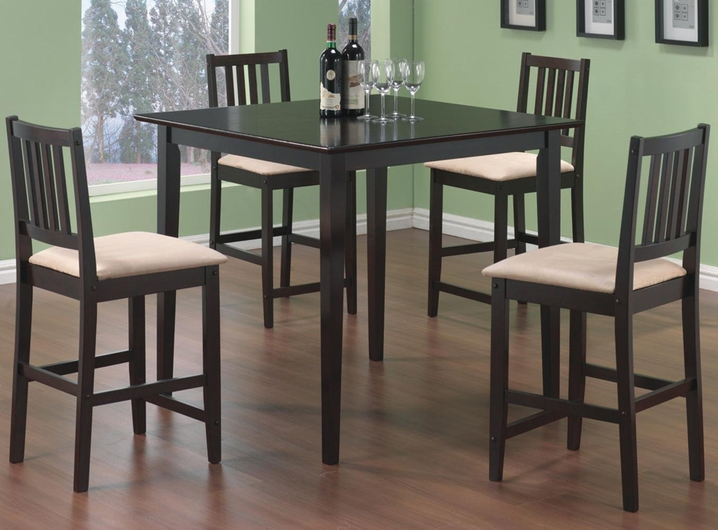 Counter Height Dining Sets Pertaining To Harper 5 Piece Counter Sets (View 16 of 25)