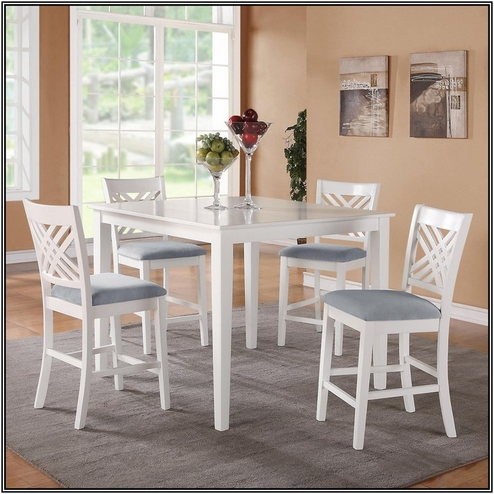 Counter Height Dining Table Sets White | Kitchen And Dining Furniture Pertaining To Jaxon Grey 5 Piece Extension Counter Sets With Fabric Stools (Image 4 of 25)
