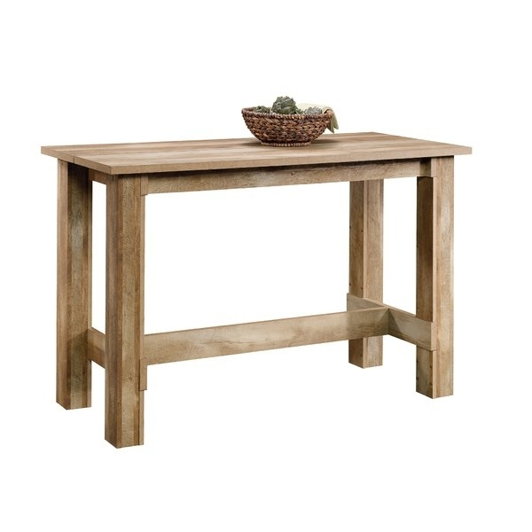 Counter Height Table 9 Piece | Wayfair For Ina Pewter 60 Inch Counter Tables With Frosted Glass (Image 9 of 25)