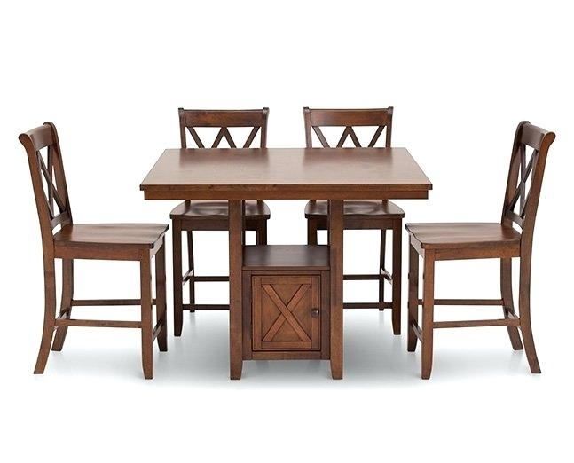 Counter Height Tables Furniture Row Dining Chairs Cottage 5 Room Set With Caden 5 Piece Round Dining Sets (View 13 of 25)