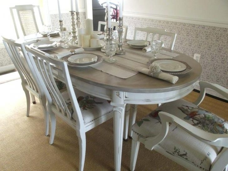 Country Dining Table French Set In Antique White Finish 9 Home Decor Inside Country Dining Tables (Image 4 of 25)