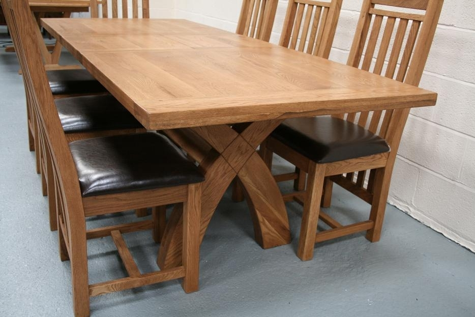 Country Oak Furniture | Rustic Oak Dining Table Furniture – Oak For Oak Dining Tables And Chairs (Image 4 of 25)