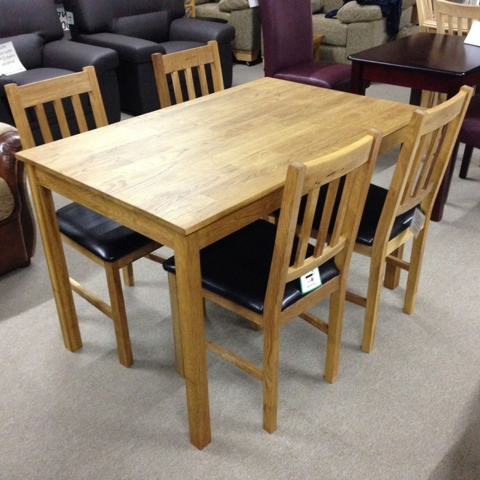 Coxmoor Solid Oak Dining Table With 4 Chairs – Flintshire, Chester In Oak Dining Tables And 4 Chairs (View 3 of 25)