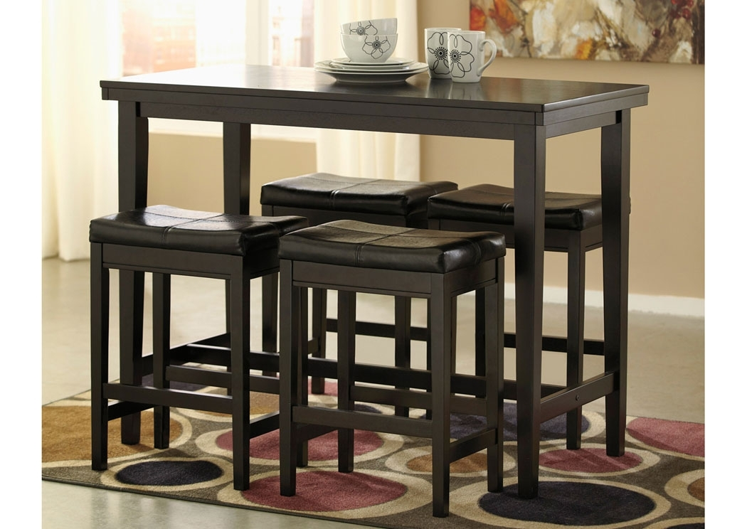 Cozy Counter Height Bar Table — Ccrcroselawn Design With Dining Tables With Attached Stools (Image 3 of 25)