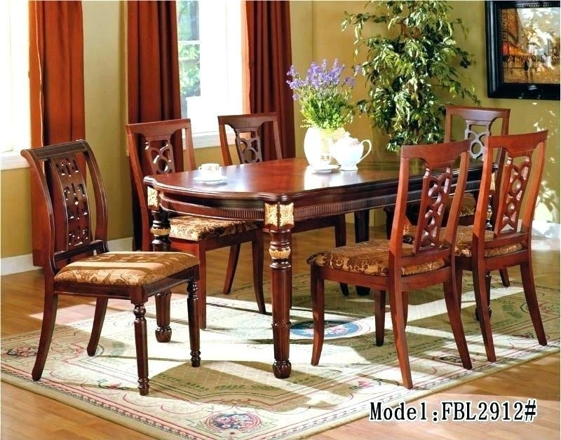 Cozy Indian Dining Table N Teak Wood Hand Carved Dining Room For Indian Dining Chairs (Image 4 of 25)