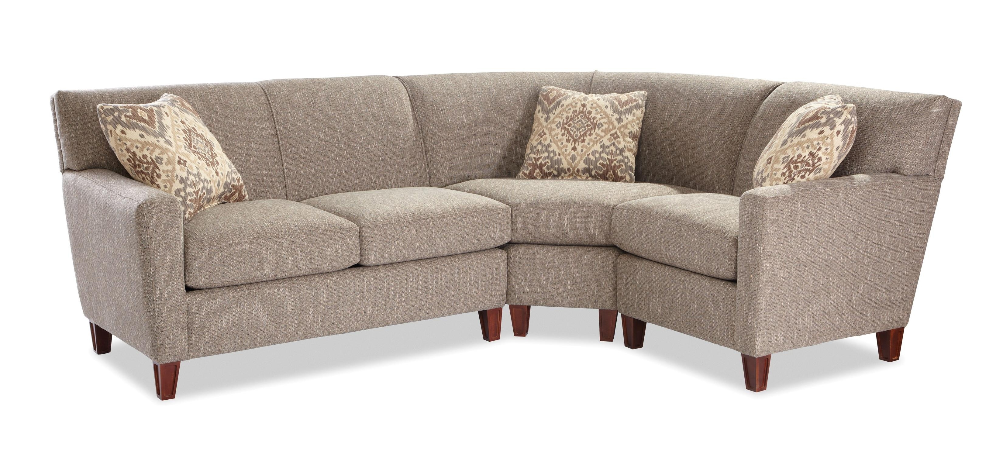 Craftmaster 7864 Three Piece Sectional Sofa With Laf Loveseat Throughout Blaine 3 Piece Sectionals (Image 8 of 25)