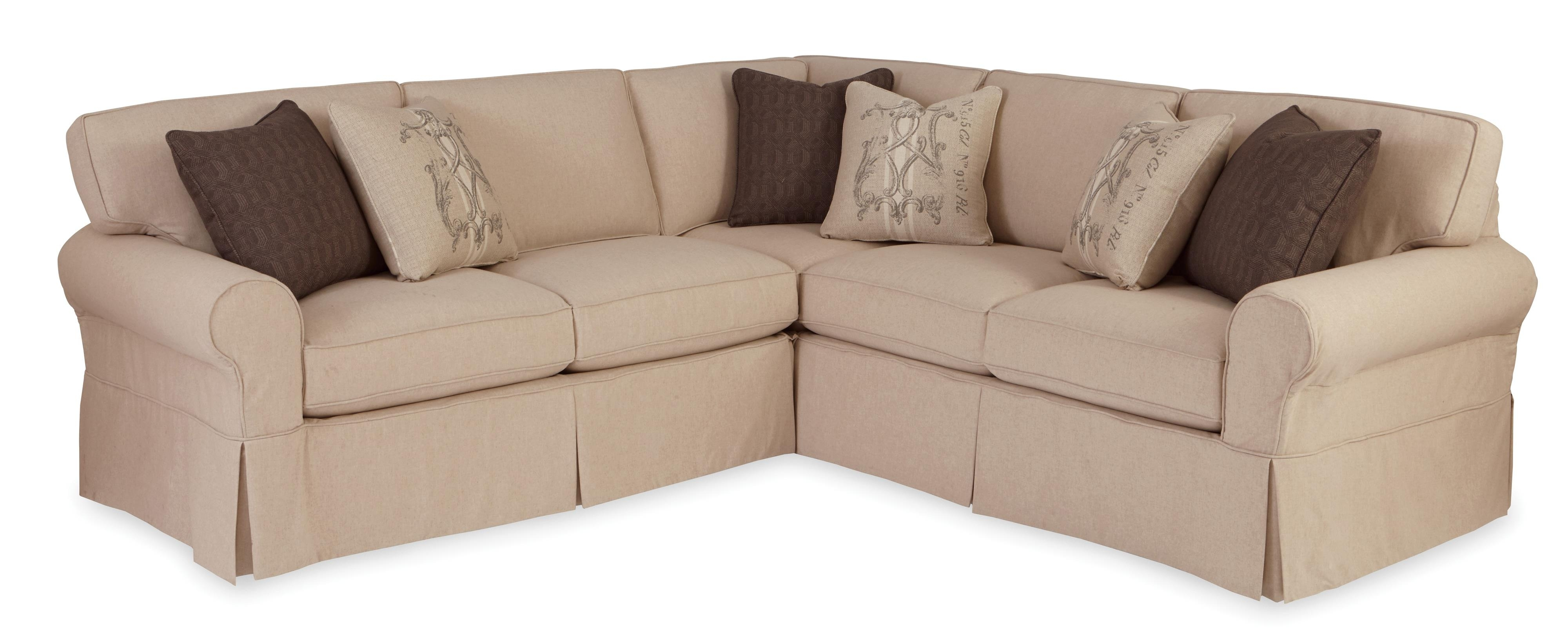 Craftmaster 9228 Two Piece Slipcovered Sectional Sofa With Raf Intended For Josephine 2 Piece Sectionals With Laf Sofa (Image 11 of 25)