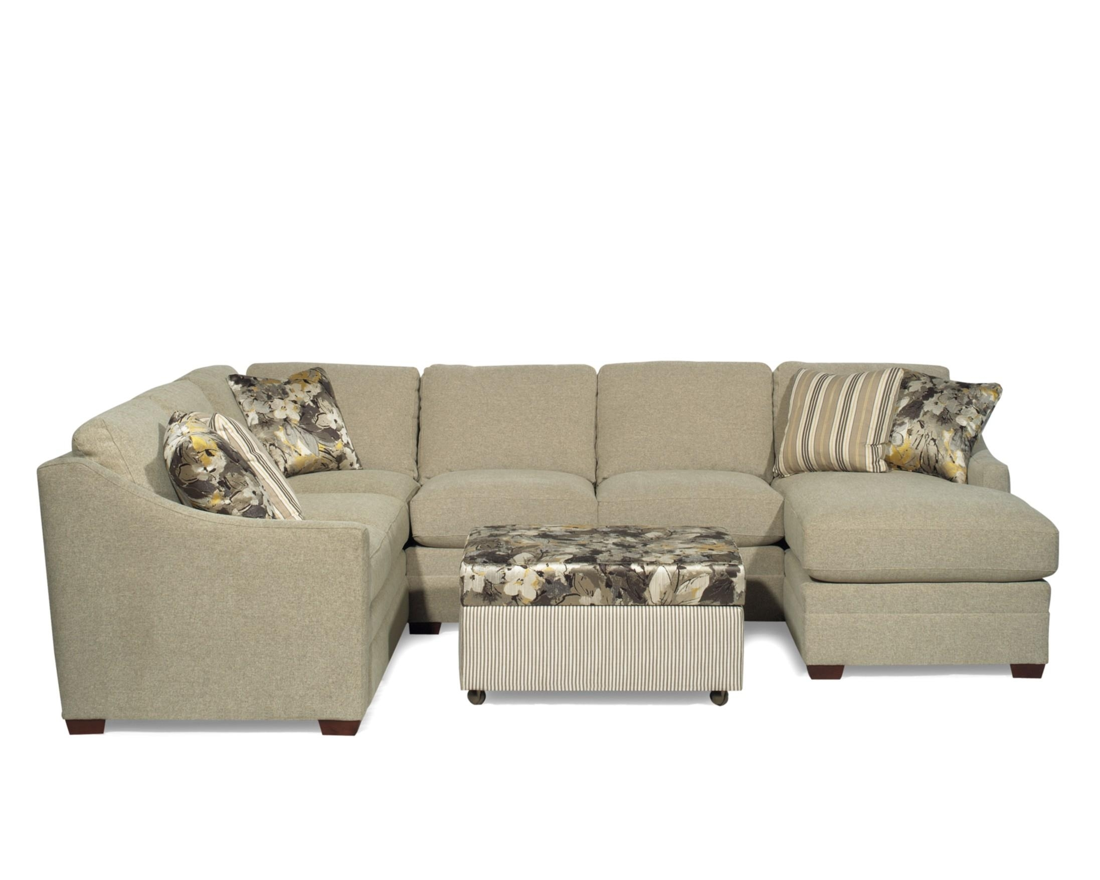 Craftmaster F9 Custom Collection <B>Customizable</b> 3 Piece In Avery 2 Piece Sectionals With Raf Armless Chaise (Image 9 of 25)