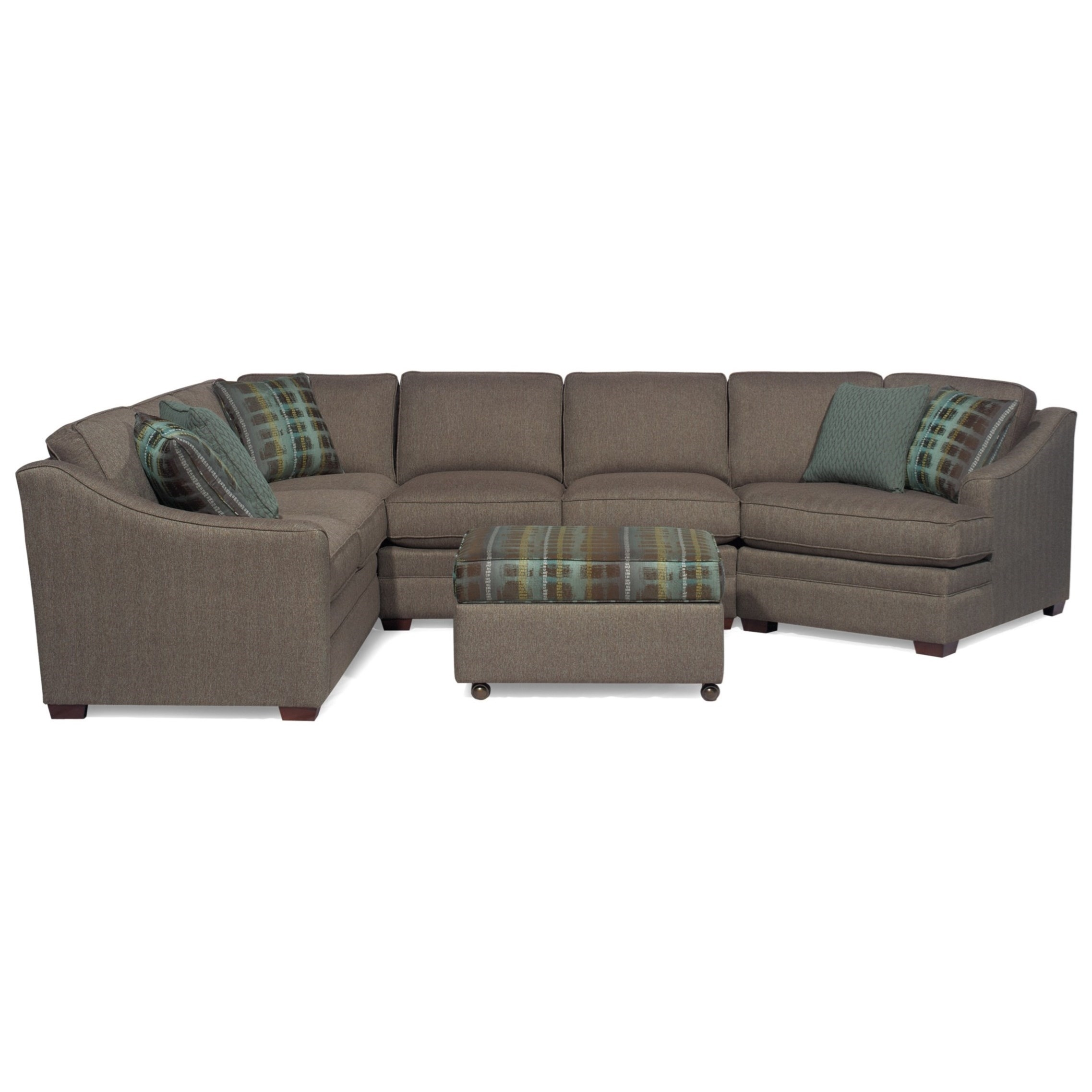 Craftmaster F9 Custom Collection <B>Customizable</b> 3 Piece Inside Tatum Dark Grey 2 Piece Sectionals With Raf Chaise (Image 5 of 25)