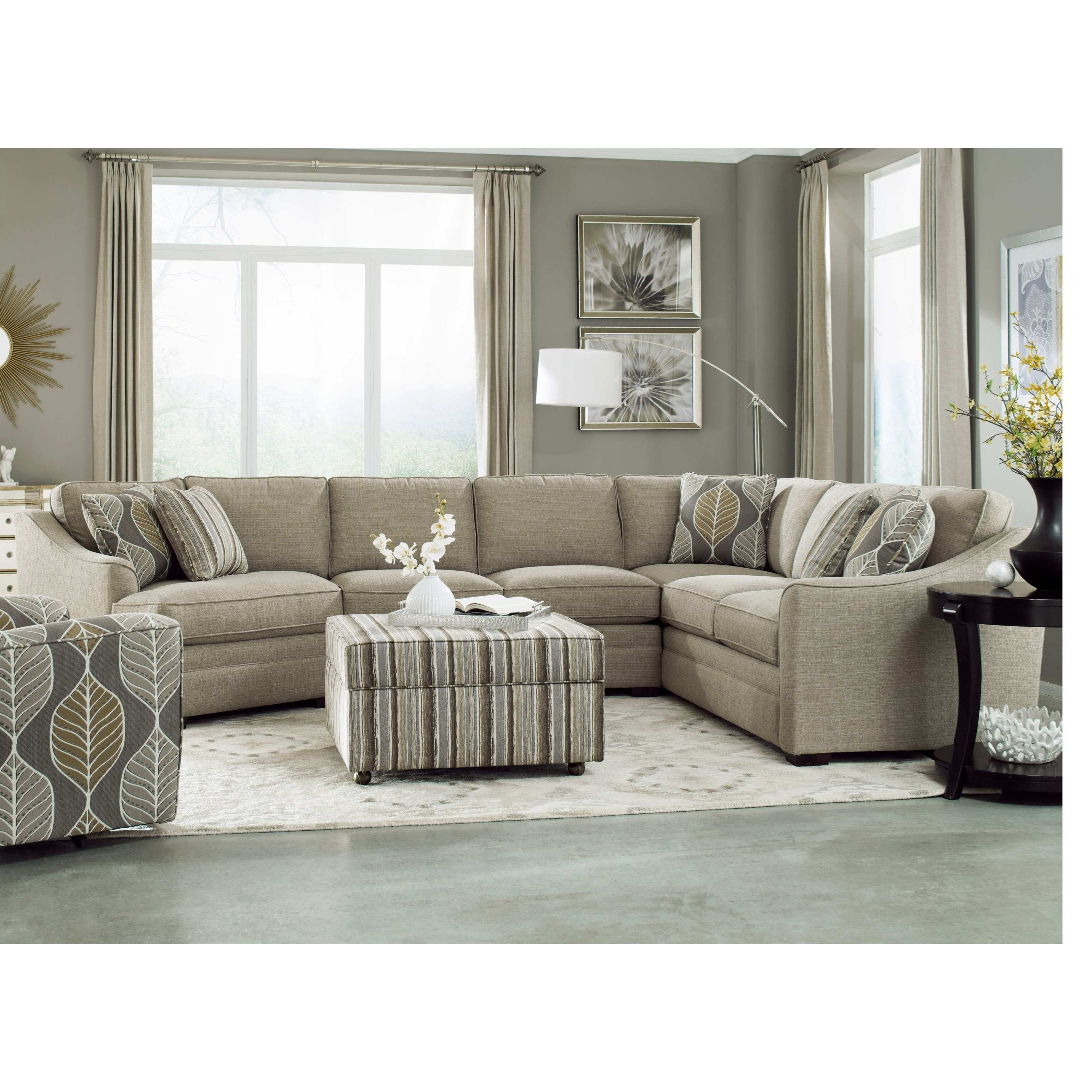 Craftmaster F9 Custom Collection <B>Customizable</b> 3 Piece Within Josephine 2 Piece Sectionals With Laf Sofa (View 24 of 25)
