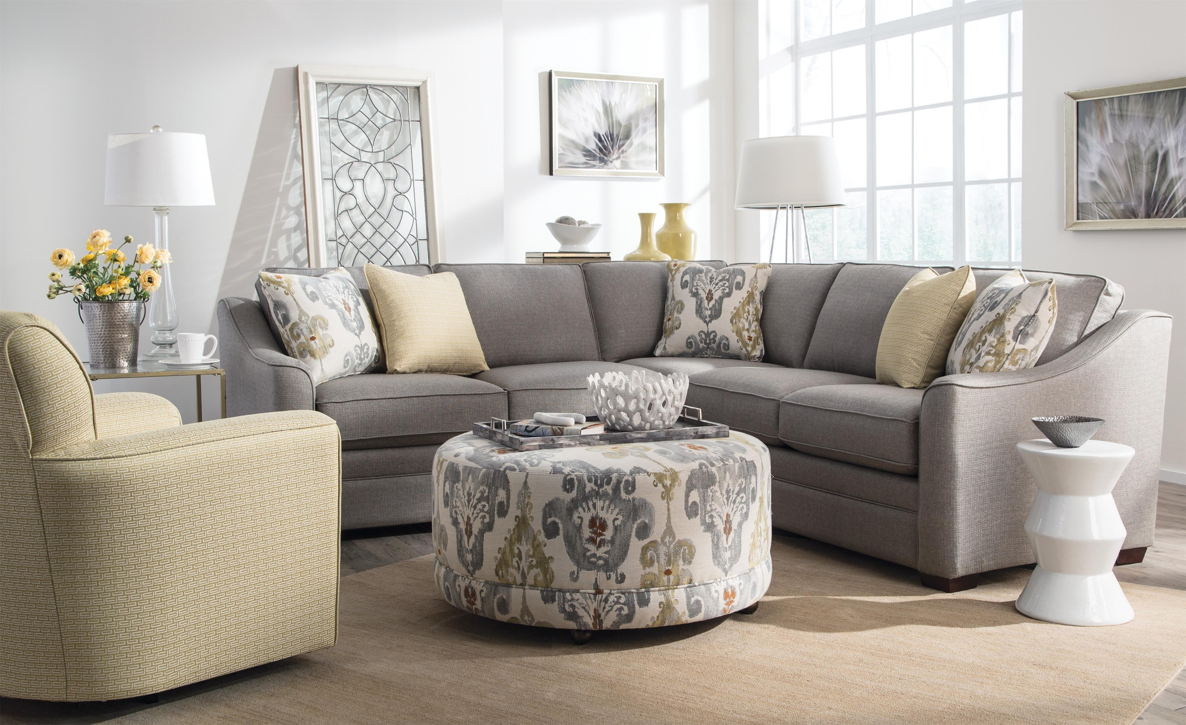 Craftmaster F9 Custom Collection Customizable Four Piece Sectional With Adeline 3 Piece Sectionals (Image 9 of 25)