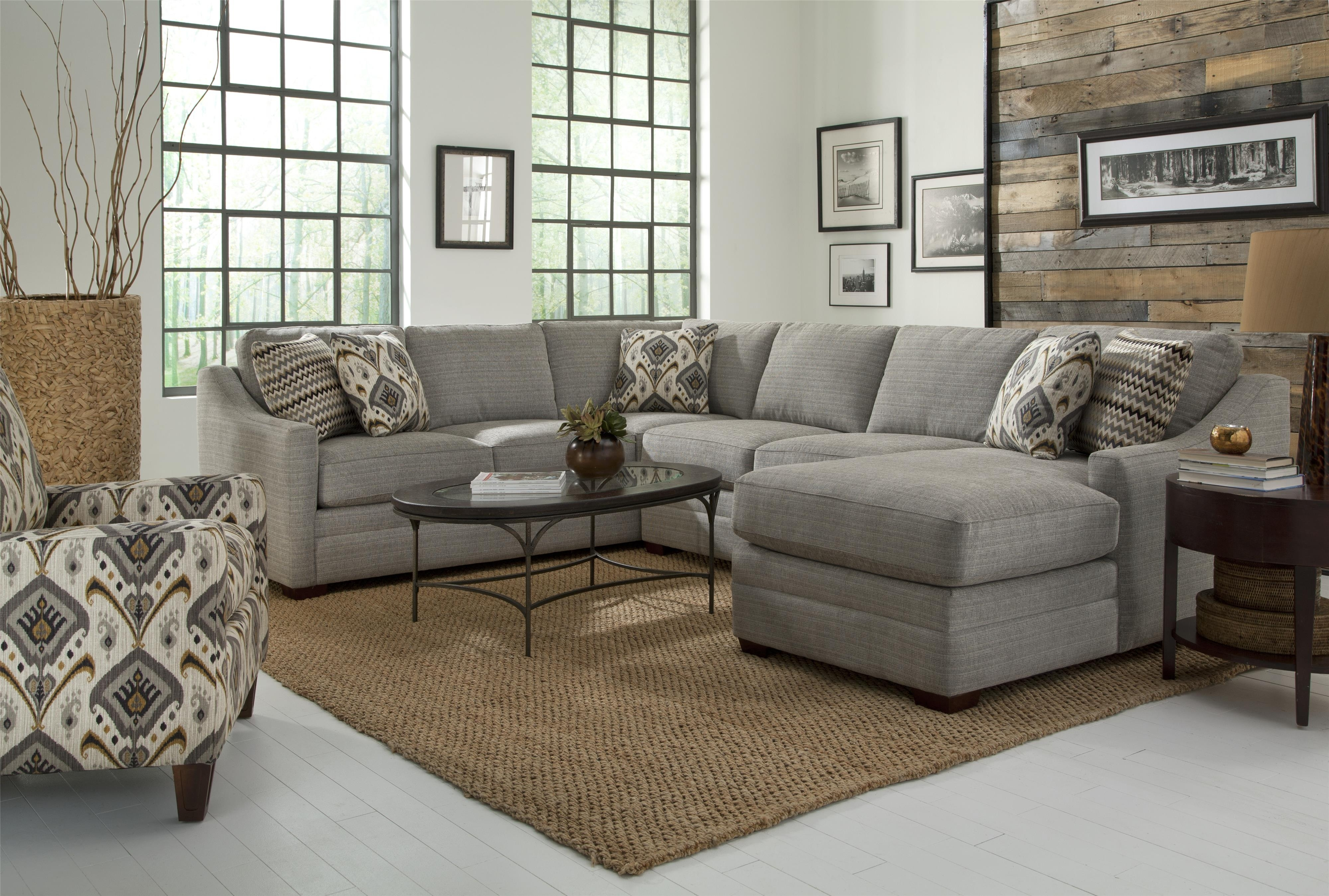 Craftmaster F9 Custom Collection Customizable Four Piece Sectional within Tatum Dark Grey 2 Piece Sectionals With Laf Chaise