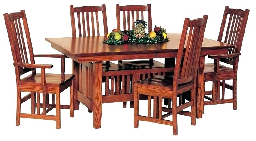 Craftsman Dining Table Council Din Round Seats 8 – Chann Throughout Craftsman Round Dining Tables (Image 8 of 25)