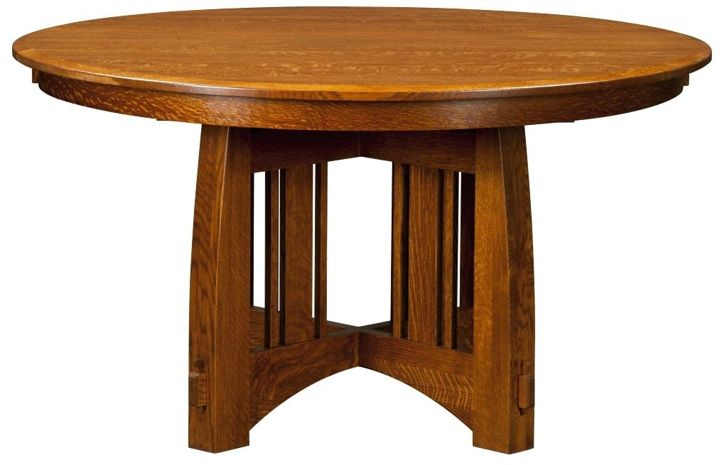 Craftsman Dining Table Optional Chairs Sears Round Glass – Chann In Craftsman Round Dining Tables (Image 11 of 25)