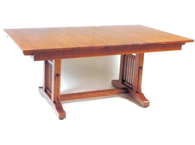 Craftsman Dining Table Set In Walnut Sears Round – Donnerlawfirm Throughout Craftsman Rectangle Extension Dining Tables (Image 13 of 25)