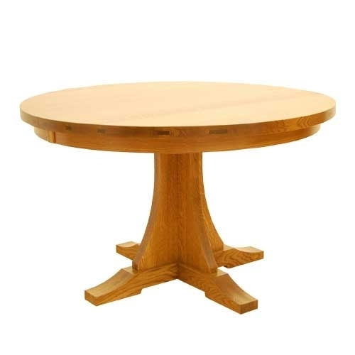 """Craftsman Round Table 48"""" With Regard To Craftsman Round Dining Tables (Image 15 of 25)"""