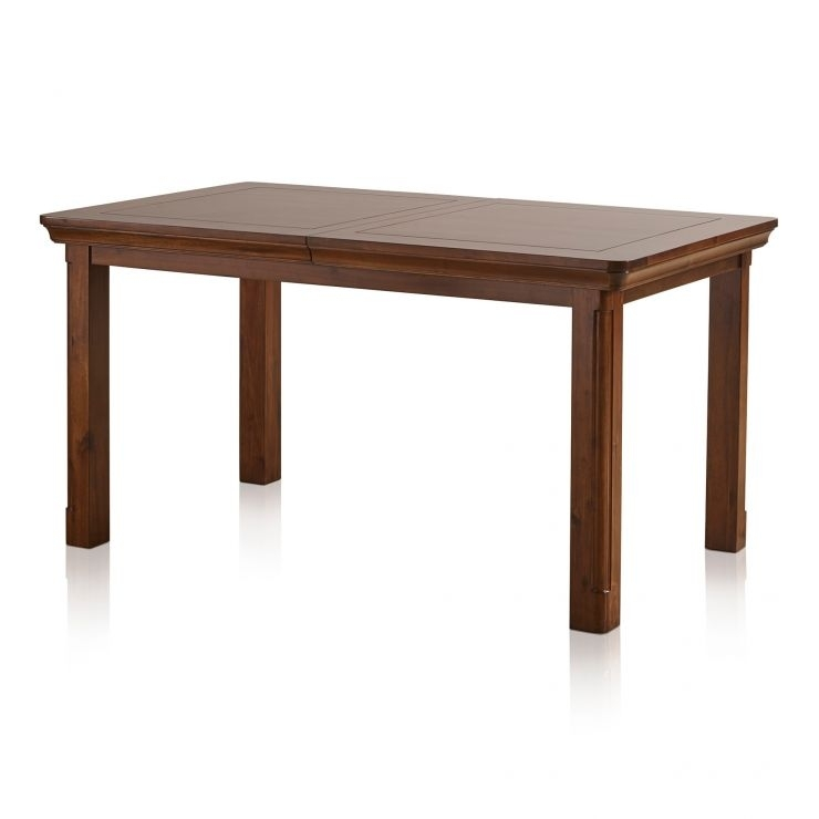 Cranbrook 5Ft Extendable Dining Table In Dark Solid Hardwood Throughout 3Ft Dining Tables (View 4 of 25)