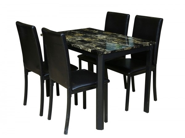 Crawford Dining Set 1+4 For Crawford 6 Piece Rectangle Dining Sets (View 13 of 25)