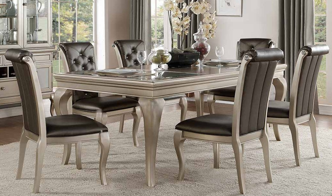 Crawford Silver Dining Room 5Pc Set For $ (Image 13 of 25)