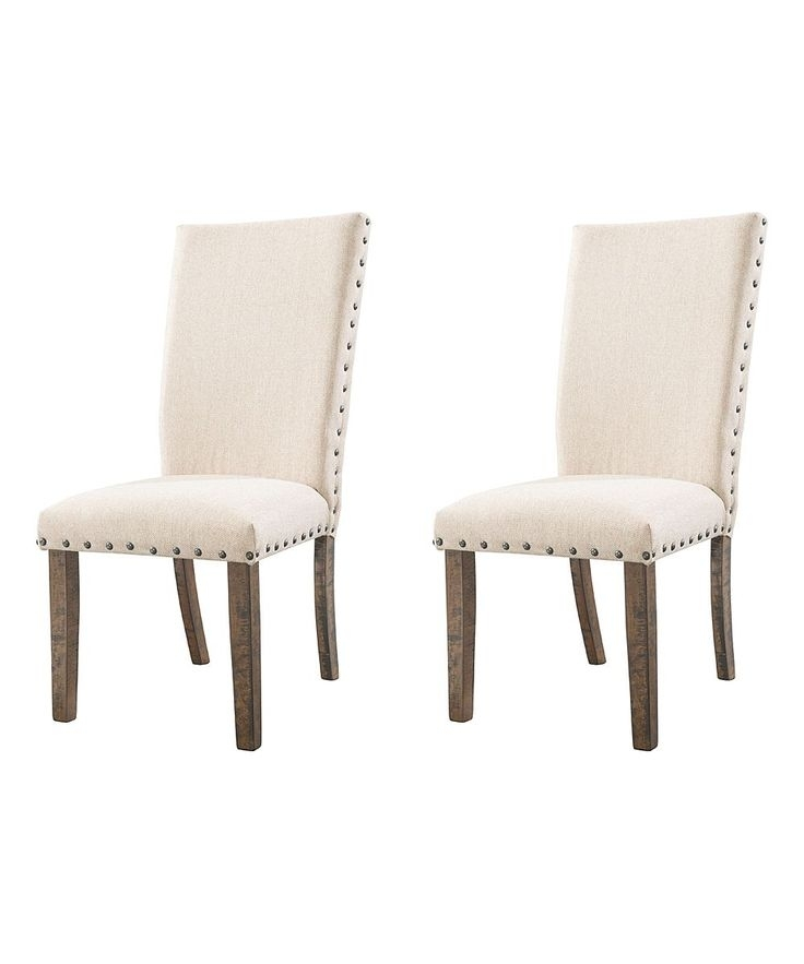 Cream Dex Side Chair – Set Of Two | Side Chair And Products With Chandler 7 Piece Extension Dining Sets With Fabric Side Chairs (View 12 of 25)