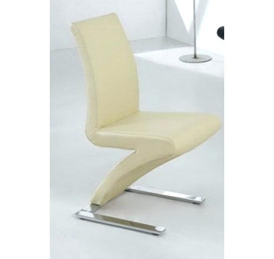 Cream Dining Chairs 8 Dining Chairs Mix Leather Chrome In Cream Inside Cream Leather Dining Chairs (Image 9 of 25)