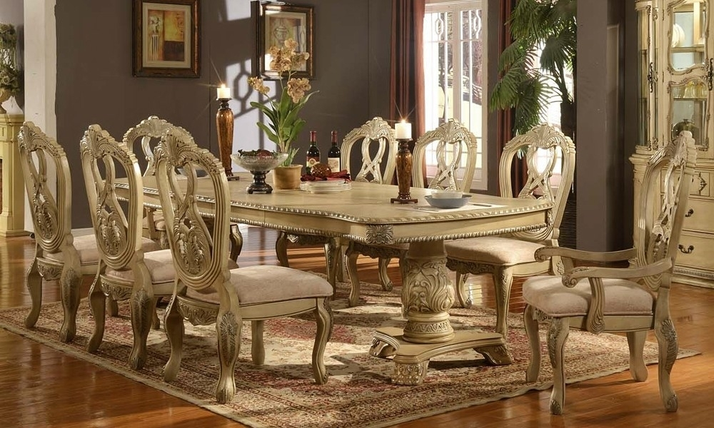 Cream Dining Room Table – Dining Table Furniture Design For Cream Dining Tables And Chairs (Image 9 of 25)